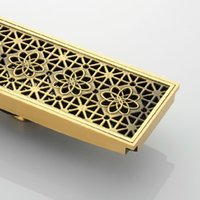 Wholesale cm x cm Euro Style Antique Brass Art Carved Brass Floor Drain Cover Shower Waste Drainer DR088