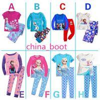 Cheap 2014 Baby Girls Frozen Pajamas Kids Anna Elsa Olaf Princess Pajamas Children Summer And Autumn Clothes New Cotton 2Piece Set DHL 707005