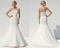 pnina tornai wedding dresses - New Real Image Luxury Vintage Lace Mermaid Wedding Dresses Backless Tiers Pnina Tornai Bridal Gowns Button Back With Tulle Sweep Train
