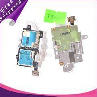 Wholesale 100pcs i9300 Original Sim Card Holder Micro SD Memory Socket Slot Tray flex cable For Samsung Galaxy S3 i9300