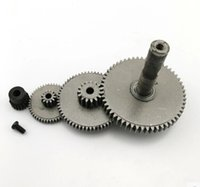 Wholesale 4pcs set Stainless steel reduction gear rack and pinion gear modulus gear set Main shaft hole mm