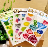 abs album - A06 diy albums accessories PVC decorative stickers DIY transparent Creative fresh and lovely cartoon stickers