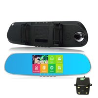 Cheap New 5 inch Android Rear view Mirror GPS Navigation 8G Allwinner A33 Quad Core DVR Camcorder HD1080P Rear View Dual Camera WiFi
