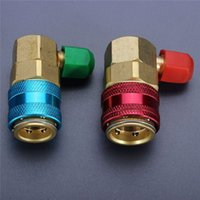 Wholesale 1 pair Auto Car High and Low Quick Couplers Connectors Adapters R134A QC Conversion for Car Air Conditioning HVAC