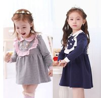 baby girl vintage clothes - 2015 New Spring Children Dress Girl Vintage College Style Dress Kids Dress Girl Clothes Dress Baby Skirt Myfashion D188A9