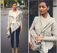 basic coat pattern - Basic Jackets Fashion Long Sleeve Leather Jacket Turn Down Collor Leather Jackets Women Slim Coats Feminino chaquetas mujer free