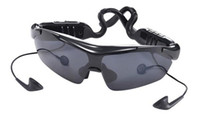 Wholesale Sports Bluetooth Glasses Music Phone Call V2 EDR Stereo Music Sunglasses Style MP3 Headset with Pair of Detachable Lens