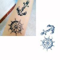 Wholesale 50pcs Fashion Temporary Tattoo Sticker Anchor Pattern Waterproof Temporary Tattooing Paper Body Art