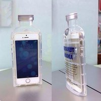 alcohol bottles - Chaotic Luxury absolute Vodka alcohol Wine Bottle Transparent Clear TPU Phone Case For Iphone s