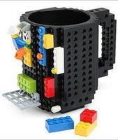 Wholesale 1000 BBA4738 colors Creative DIY Build on Brick Mugs Coffee Drink CUP Lego PixelBlocks Mega Bloks KRE O K NEX Bricks Compatible Bricks Cup