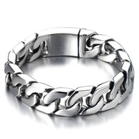 Wholesale Cuban Chain Bracelet Men Stainless Steel Curb Chain Bracelet Cool Mens Bracelet Anniversary Gifts for Boyfriend Husband