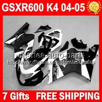 body kit - 7gifts Cowl For SUZUKI GSXR Body Black white Q35359 GSX R600 GSXR600 K4 GSXR NEW Black GSX R600 Fairing Kit