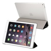 Ultra Silm Silk Trifold Housse Etui en Cuir Magnetic Smart Clear Back Cover pour iPad 5 6 mini 1 2 3 4 Pro Auto Wake Up / Sleep Fonction