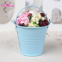tin buckets pails - 12pcs Mini Metal Bucket Tin Candy Box Buckets for Wedding Party Souvenirs Gift Pails Event Party Supplie Blue Purple Gray