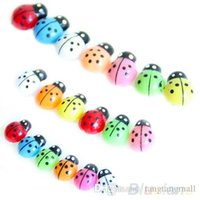 Wholesale 100Pcs Colorful Mini D Wall Stickers Home Decor Kid Toys DIY Ladybird Ladybug QEC