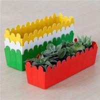Wholesale 9 CM Rectangular Minimalist Gardening Plastic Flower Pot European Modern Style For Indoor Desktop Flower Green Plant