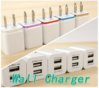 Wholesale Hot Double USB charger for iphone6 samsung ipad Mini Colorful Dual Port USB Charger Adapter DHL