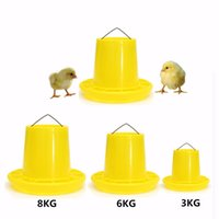 Wholesale Tower Shape Structure Chicken Poultry Feeder Feed Bucket Yellow Plastic With Anti Waste Ring Chicken Farm Feeding Supplies
