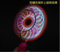 Wholesale Colorful Magic gyro Flash yoyo Wheels Auto Flip ball Kids Led Toys track yo yo Gifts free fedex t35