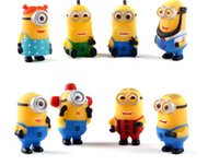Wholesale 8pcs Despicable Me Minions Figure cm PVC Action Figures Toy Gift For Children