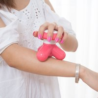 Wholesale Electric Mini Massager Plastic Hand Massager USB FuLL Body Triangle Fat Remove