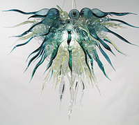 art deco antiques - New Style Antique LED Light Source High Quality Contemporary European Italian Chihuly Style Hand Blown Glass Shade Crystal Chandelier