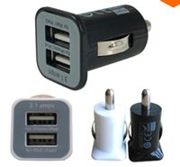 Wholesale Micro Auto Universal Dual Port USB Car Charger A Mini Car Charger Adapter Cigar Socket Black FMHM109