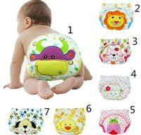 Wholesale Baby Underwear Cotton Soft Breathable Baby Boys Girl Cute Cartoon Infant Diapers Sweet New Practical Waterproof Animal Embroidery Baby pants