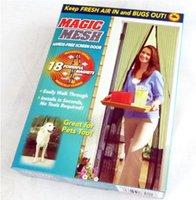 Wholesale set Magic Mesh Camouflage Print Hands Free Instant Screen Door Kit Blinds Shade Shutter m m
