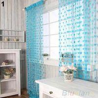 Wholesale Cute Heart Line Tassel String Door Curtain Window Room Divider Curtain Valance Home