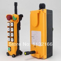 Wholesale 24V AC DC Motion Speed Transmitters Hoist Crane Truck Radio Remote Control System With Emergency Stop Pushbutton