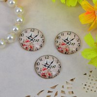 Cheap Wholesale10pcs Glass Cabochon DIY clock Flower image round dome jewelry finding Flatback 10mm 12mm 14mm 16mm 18mm 20mm 25mm 30mm