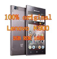 Cheap free shipping Original Lenovo K900 Smartphone Intel Powered 2.0GHz 5.5 Inch IPS Screen RAM 2GB ROM 16GB Android 4.2 Smart Phone