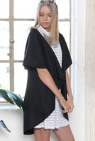 Wholesale new fashion sleeveless cotton wool material large size cape style open stitch women s mantle cloak casual coat long