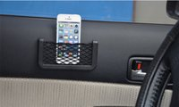 Wholesale 2015 Fashion Hot Universal Car Seat Side Back Net Storage Bag Phone Holder Pocket Organizer GPS