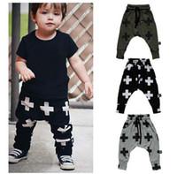 Wholesale Fashion Children Kids Pants Cross Star Boys Girls Harem Pants Toddler Trousers Spring Autumn baby Clothes