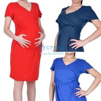 Wholesale 2015 new arrivel summer maternity clothing dress fashion elegant pregnancy short sleeve clothes for pregnant woman