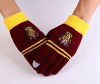 Wholesale 1 Pair Harry Potter Gloves Winter Men Women Hogwarts Gryffindor Bagdes Touch Warm Gloves Colors