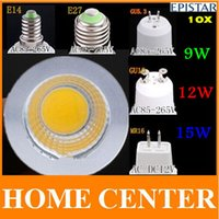 Wholesale 10X GU10 GU5 E27 E14 MR16 W W W Dimmable COB LED Sport light lamp led bulb warm cold white DC12V AC110V V V