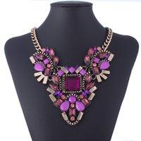 Wholesale Women Fashion Mixed Style Irregular Bubble Bib Choker Statement Necklaces Pendants XL001
