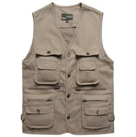 basic fishing equipment - Fall HOT Basic Jackets Fishing Vest Tactical Vests Multi Pocket Hiking Vest With Pockets Outdoors Camping Equipment