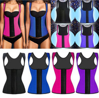 body shapers - Plus size XS XL Women Grand Rubber Corset Sports sexy Waist Training body shapers steel bone bustier crop Mix order