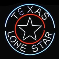 beer logo design - 17 quot x14 quot Texas Lone Star Circles Logo Beer Bar design Real Glass Neon Light Signs Bar Pub Restaurant Billiards Shops Display Signboards