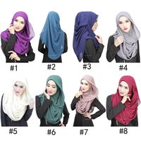 plain jersey - Muslim Hijab Scarves Cotton Voile Pashmina Shawl Jersey Scarves For Women Plain Colors Scarfs headscarf caps color D528L