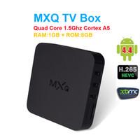 Wholesale 10pcs BOWA MXQ Android TV Box Quad Core Bit Amlogic S805 MXQ Media Player With XBMC KODI Fully Load Smart TV Box
