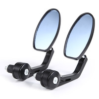 Wholesale Flexible Motorcycle Rear View Back Mirror Handle Bar End quot Mirror Oval Rear View Mirror
