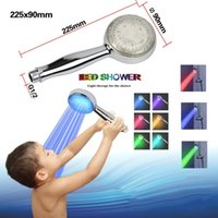 Wholesale Hippo Colorful Home Bathroom Colors Changing LED Light Shower Head Water Glow BL