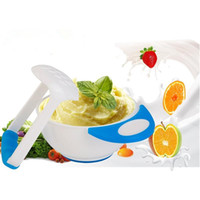 Wholesale Random Color Special counter bowl rod set manual Grinding baby feeding food fruit cooking tools prato Infantil