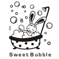 baby bubble bath - sweet bubble cute cartoon baby DIY K32 vinyl PVC bath Decals decor wall removable waterproof stickers For glass bathroom