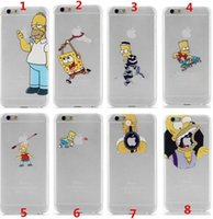 Wholesale For iPhone iphone plus case the homer simpson simpsons Frosted transparent the Simpson eat APPLE case cover designs available